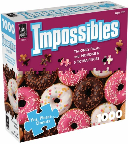 Jigsaw Puzzle 1000 Pieces 24 X24 -Impossibles- Yes, Please Donuts Perspective: front