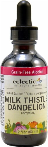 Eclectic Institute Milk Thistle Dandelion Compound Extract Perspective: front