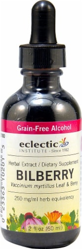Eclectic Institute  Bilberry Herbal Extract Perspective: front