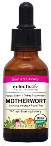 Eclectic Institute Organic Motherwort Herbal Extract Perspective: front