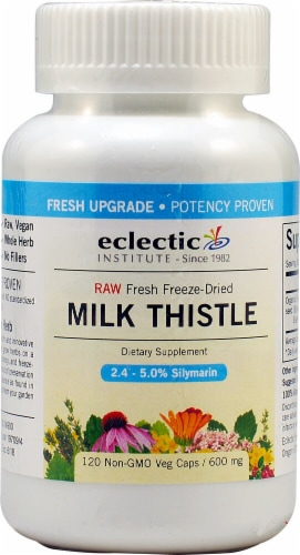 Eclectic Institute Milk Thistle Veg Caps 600 mg Perspective: front
