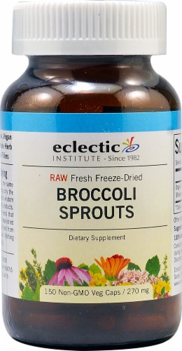Eclectic Institute Broccoli Sprouts Capsules 270 mg Perspective: front
