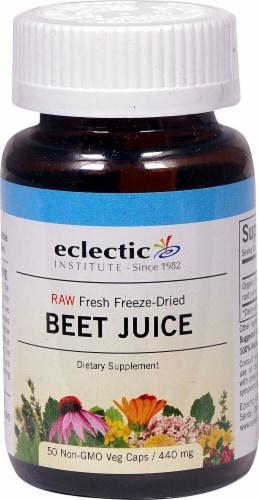 Eclectic Institute Raw Beet Juice Veg Caps 440 mg Perspective: front