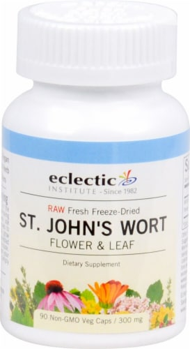Eclectic Institute St. John's Wort Capsules Perspective: front