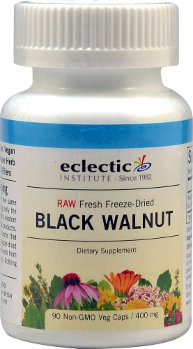 Eclectic Institute Black Walnut Veg Caps 400 mg Perspective: front