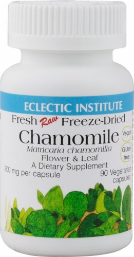 Eclectic Institute Chamomile Vegetarian Capsules 200 mg Perspective: front