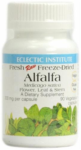 Eclectic Institute Alfalfa Vegetarian Capsules 200 mg Perspective: front