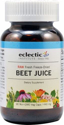 Eclectic Institute Beet Juice Veg Caps 440 mg Perspective: front