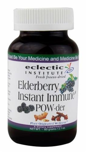 Eclectic Institute  Elderberry Instant Immune Powder Perspective: front