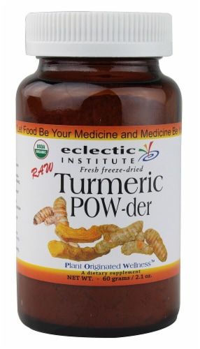 Eclectic Institute Raw Turmeric Powder Perspective: front