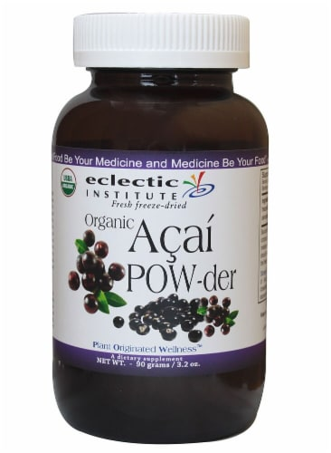 Eclectic Institute Organic Acai Powder Perspective: front