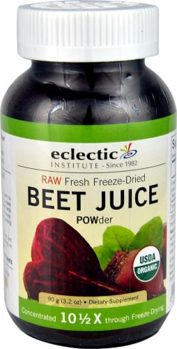 Eclectic Institute Organic Raw Beet Juice Powder Perspective: front