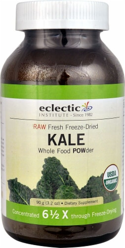 Eclectic Institute Raw Kale Whole Food Powder Perspective: front