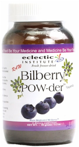 Eclectic Institute Raw Bilberry Powder Perspective: front