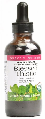 Eclectic Institute Organic Blessed Thistle Herbal Extract Perspective: front