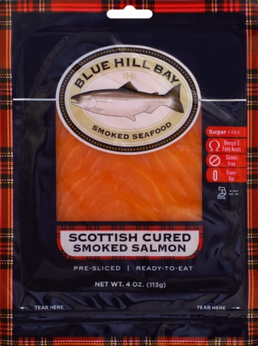 Blue Hill Bay Scottish Style Smoked Salmon Perspective: front