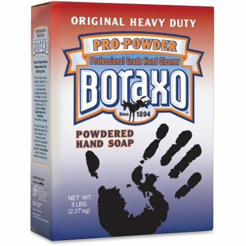 Dial Boraxo Powdered Hand Soap - Grease Remover, Dirt Remover - White - 1 Each Perspective: front
