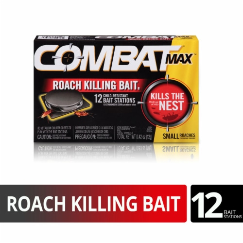 Combat® Max Quick Kill Small Roach Bait Stations Perspective: front
