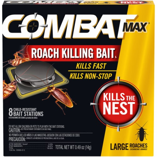 Combat Max® Large Roach Killing Bait Stations Perspective: front