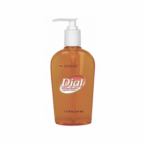 Dial Professional 7.5 Oz. Gold Antimicrobial Liquid Hand Soap DIA 84014CT Perspective: front