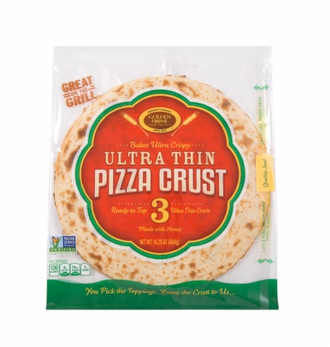 Golden Home Ultra Crispy Pizza Crust Perspective: front