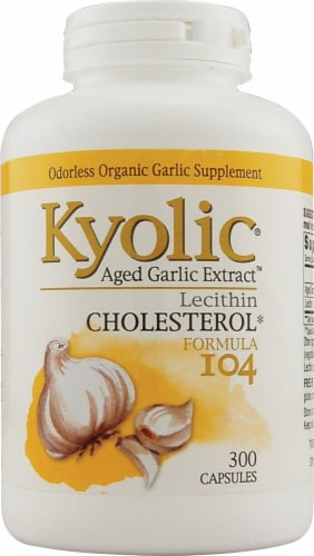 Kyolic  Aged Garlic Extract™ Cholesterol Formula 104 Capsules Perspective: front