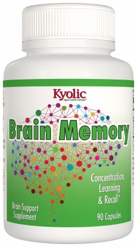 Kyolic Brain Memory Supplement Capsules Perspective: front