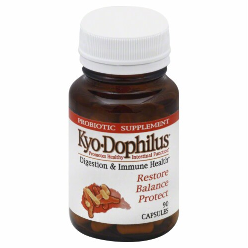 Kyolic Kyo-Dophilus Disgestive & Immune Health Capsules Perspective: front