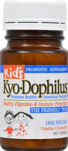 Kyol Kids Kyo Dophilus Vanilla Chewable Tablets Perspective: front