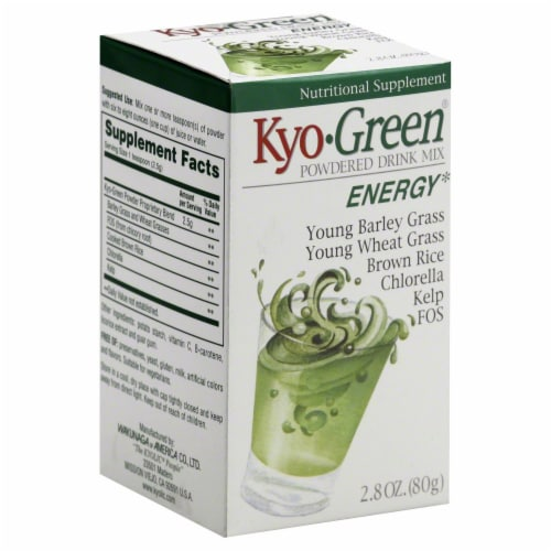 Kyolic Kyo-Green Energy Powdered Drink Mix Perspective: front