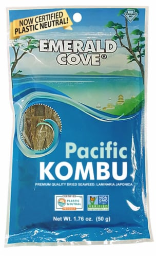 Emerald Cove Pacific Kombu Dried Seaweed Perspective: front