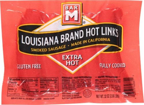 Bar M® Extra Hot Louisiana Hot Links Smoked Sausage Perspective: front
