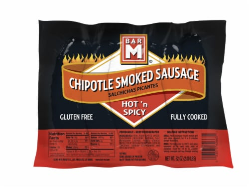 Bar M® Chipotle Smoked Sausage Links Perspective: front