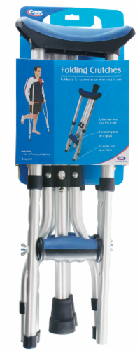 Carex Folding Crutches Perspective: front