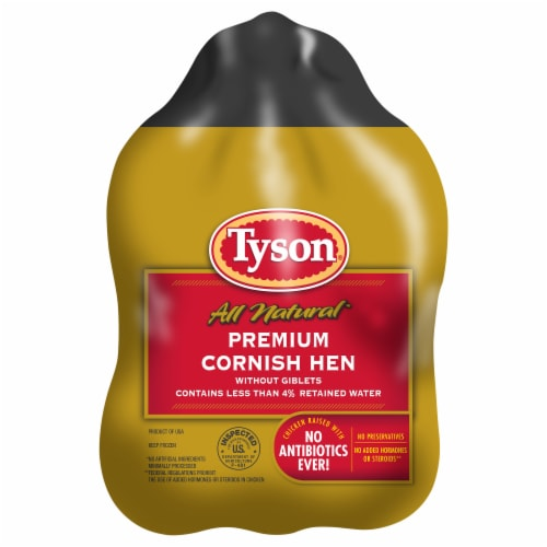 Tyson All Natural Premium Cornish Hen Perspective: front