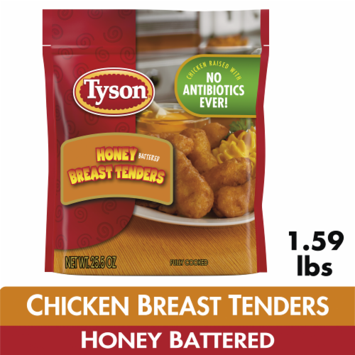 Tyson Fully Cooked Honey Battered Breast Tenders Perspective: front