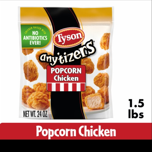 Tyson Any'tizers Popcorn Frozen Chicken Perspective: front