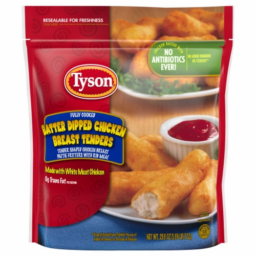 Tyson Batter Dipped Chicken Breast Tenders Perspective: front