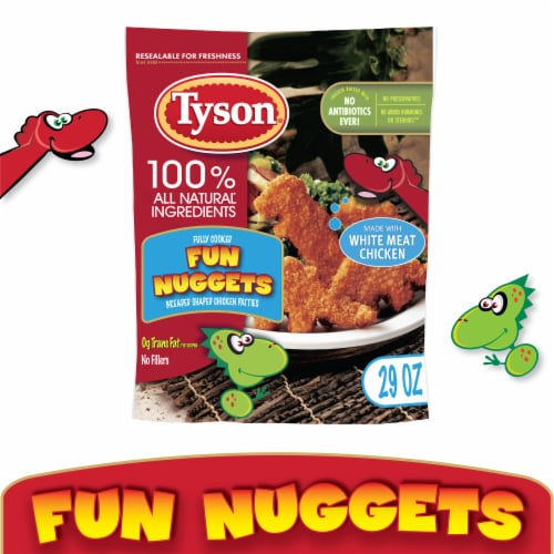 Tyson® Fully Cooked Fun Nuggets with Whole Grain Breading Perspective: front