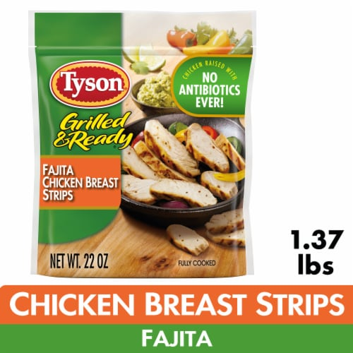 Tyson Grilled & Ready Fully Cooked Fajita Chicken Strips Perspective: front