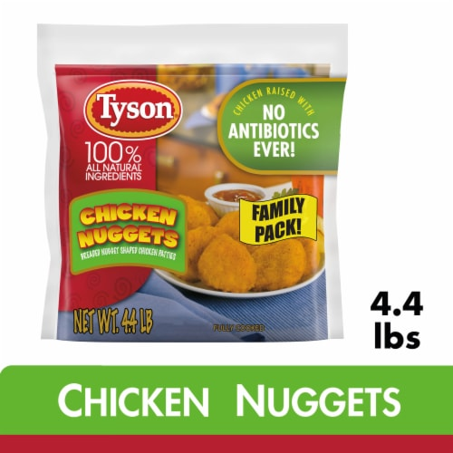 Tyson Fully Cooked Chicken Nuggets Perspective: front