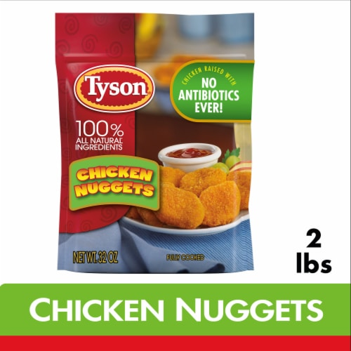 Tyson® Fully Cooked Chicken Nuggets Perspective: front