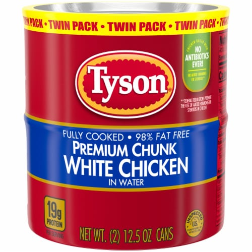 Tyson Premium Chunk White Chicken Twin Pack Perspective: front