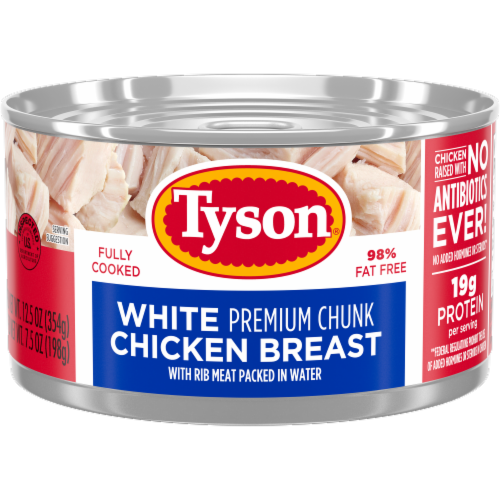 Tyson Premium Chunk White Chicken Breast in Water Perspective: front