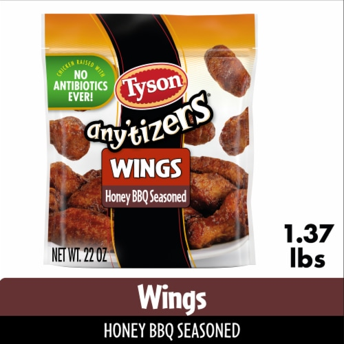 Tyson Any'tizers Honey BBQ Bone-In Chicken Wings Perspective: front