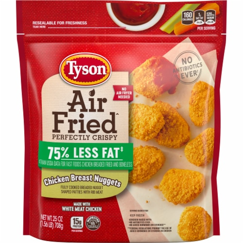 Tyson Air Fried Perfectly Crispy Chicken Nuggets Perspective: front