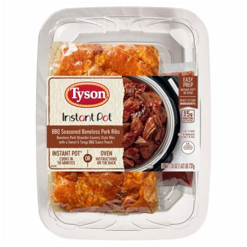 Tyson® Instant Pot® BBQ Seasoned Boneless Pork Ribs Meal Kit Perspective: front