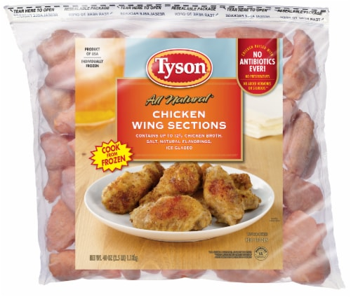 Tyson All Natural Chicken Wing Sections Perspective: front