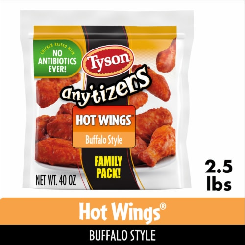 Tyson Any'tizers Buffalo Style Bone-In Chicken Wings Perspective: front