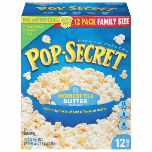 Pop Secret Homestyle Popcorn Perspective: front